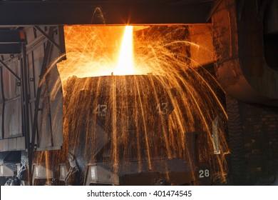 Blast furnace smelting liquid steel in steel mills