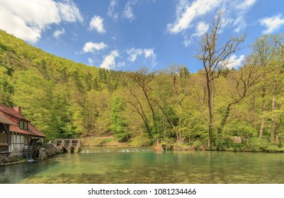 The Blautopf spring in Blaubeuren