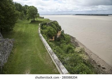 blaye chateau in the Gironde