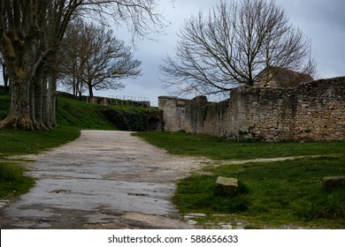 BLAYE, FRANCE - February 26, 2017: Inside the Citadelle of Blaye, a UNESCO world heritage site near Bordeaux
