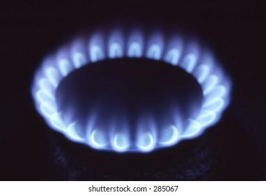 Blaze of gas
