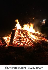 Blazing bonfire - outdoors