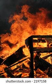 A blazing fire image
