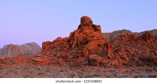 Blazing red rock formations at Valley of Fire State Park in Nevada