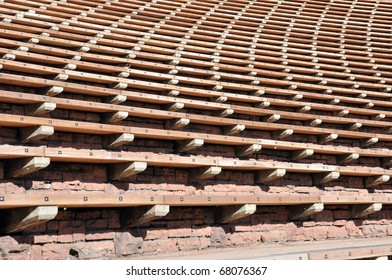 Bleacher Rows at Red Rocks Anmphitheater, Denver