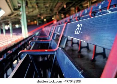 Bleachers in a baseball park