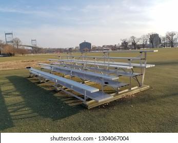 Bleachers on the sports field