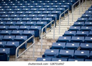 Bleachers in a sports stadium.