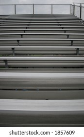 Bleachers in a stadium.  Great for a background or texture.