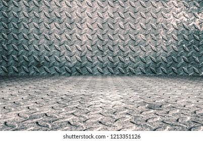 Bleak steel tread plate background
