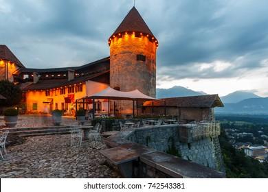 Bled Castle (Blejski grad) in Bled. Slovenia