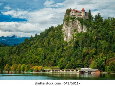 Bled castle with lake Bled