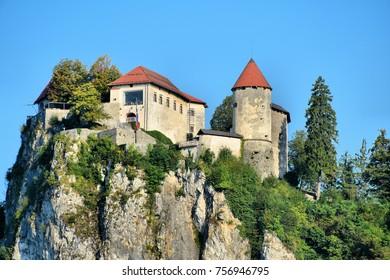 Bled Castle on Lake Bled in Slovenia