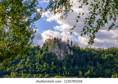 Bled castle in Slovenia. Popular summer weekend travel destination