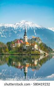 Bled, church on an island