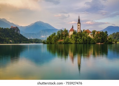 Bled Island in Lake Bled, Slovenia