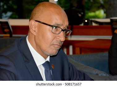 Bled, Slovenia. September 5th 2016. Minister of state for European affairs of France, Harlem Desir during the meeting