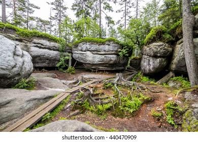 Bledne Skaly in Sudety in Poland