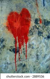 bleeding heart abstract