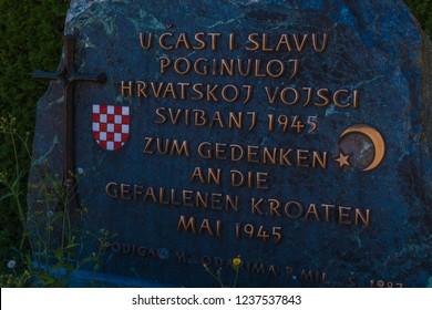 Bleiburg Massacres of Croatians Monument In Austria – Lest WeForget