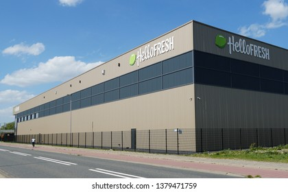 Bleiswijk, the Netherlands. April 2019. Hellofresh distribution center in the Netherlands.