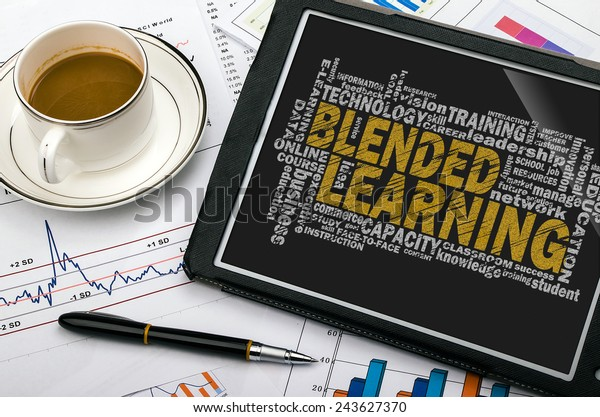 blended learning word cloud with related tags