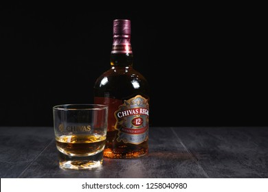 Blended from whiskies matured for at least 12 years, Chivas Regal 12 Gold Signature is a blended Scotch whisky produced by Chivas Brothers in Keith, Scotland.