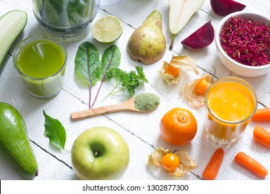 Blender smoothie fresh fruits and young sprouts healthy life style food concept