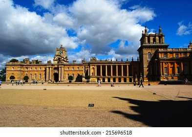 Blenheim Palace, UK - August 30, 2014: The Palace, the residence of the dukes of Marlborough, is a UNESCO World Heritage Site.