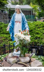 A Blessed Mother statue at a Catholic Church in New Jersey.