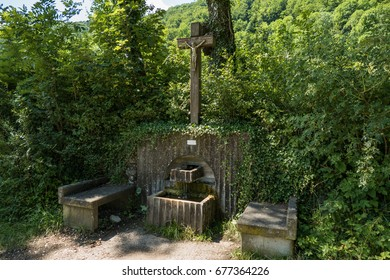 Blessed resting place with source in germany