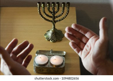 blessing of the candles of the sabbath