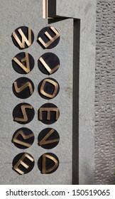 BLETCHLEY PARK, UK - 21ST OCTOBER 2011: Code-Breaking Memorial at Bletchley Park