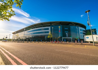 Bletchley,Milton Keynes,England, June 2018: Stadium MK Dons.Stadium MK is a football ground in the Denbigh district of Bletchley in Milton Keynes, Buckinghamshire, England. Designed by Populous