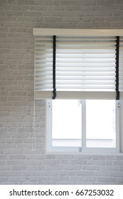 blind at window