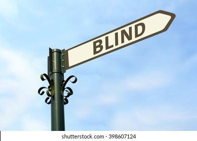 BLIND WORD ON ROADSIGN