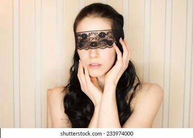 blindfolded sexy woman