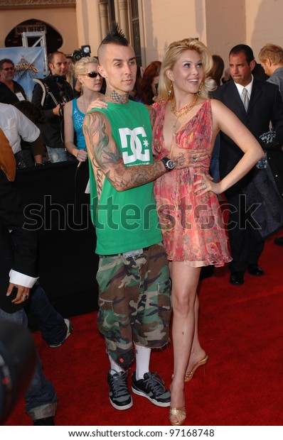 Blink 182 Star Travis Barker Wife Stock Photo Edit Now -3862