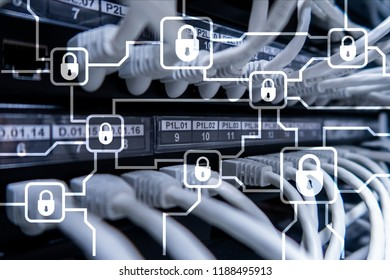 Blochain information encryption. Cyber security, crypto currency.