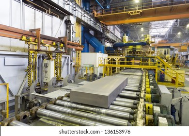 Block of aluminum platten pressing machine of rolling mill.