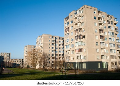 Block building in Alytus city, Lithuania