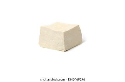Block and cubes of Tofu stock photo