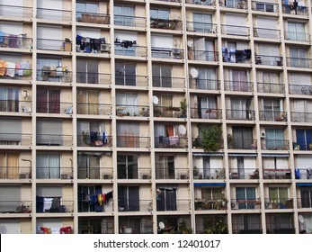 block of flats in the french city of Marseilles