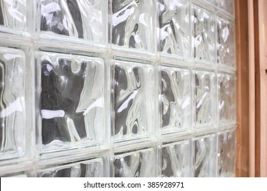 Block Glass Window from Side View