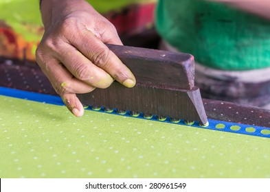 block printing on textile in India