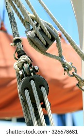 Block and tackle from a sail boat.