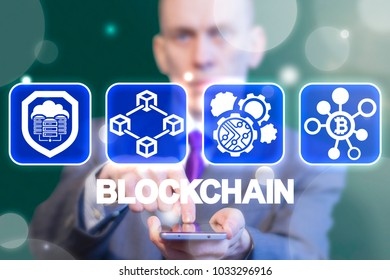 Blockchain Circuit Automation Bitcoin Financial Technology.