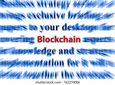 Blockchain concept illustration