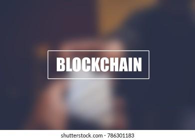 Blockchain, internet money transfer, technology concept