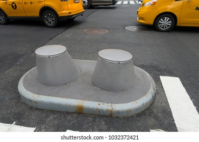 blockers to protect people from cars trucks and busses